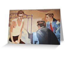 Alcoholics Anonymous Man on Bed Greeting Card