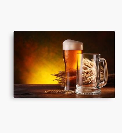 Beer and Draft Beer Canvas Print