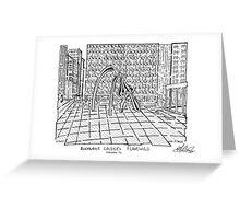 Calders Flamingo Sculpture Maze Greeting Card