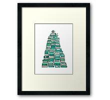 Bookish Christmas Tree Framed Print