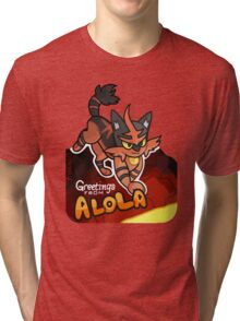 Greetings from Alola ft. Torracat - Pokémon Sun and Moon Tri-blend T-Shirt