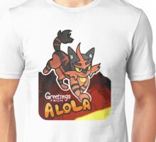 Greetings from Alola ft. Torracat - Pokémon Sun and Moon Unisex T-Shirt