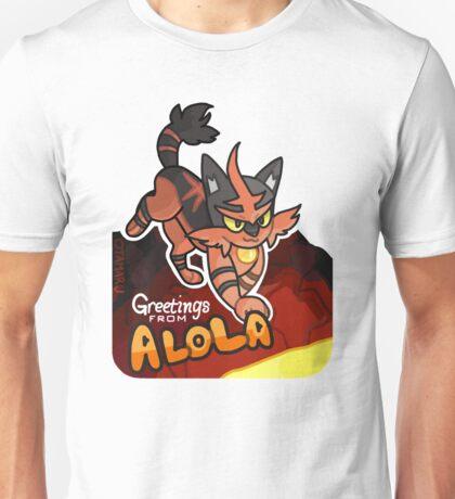 Greetings from Alola ft. Torracat - Pokémon Sun and Moon Unisex T-Shirt