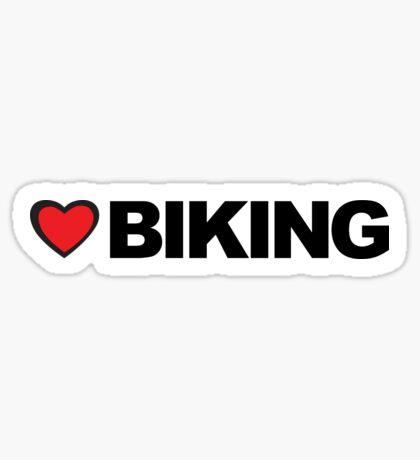 Love Biking Sticker