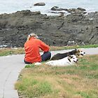 'NOW MUM NEEDS A REST!'  Woolgoolga Headland. N.S.W. Nth. Coast. by Rita Blom