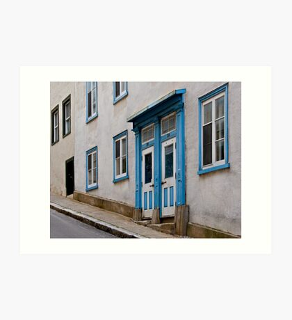 A Steep Street in Old Quebec City Art Print