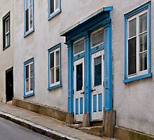 A Steep Street in Old Quebec City by Gerda Grice