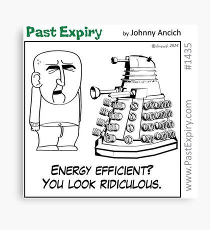 Cartoon : Daleks Gone Green Canvas Print