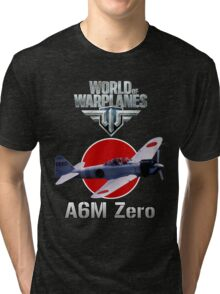 World of Warplanes A6M Zero Tri-blend T-Shirt