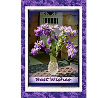 Best Wishes ~ Cottage Bouquet Photographic Print