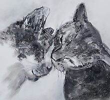 Kitty Kiss (pastel) by Niki Hilsabeck