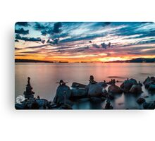 English Bay Sunset Canvas Print