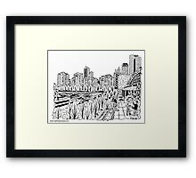 View from Navy Pier Maze Framed Print