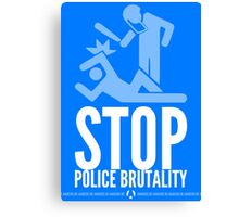 Stop Police Brutality Canvas Print