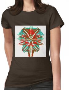 Earth in lava & Ice Womens Fitted T-Shirt