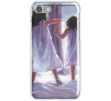 THREE SISTERS JUMPING ON THE BED iPhone Case/Skin
