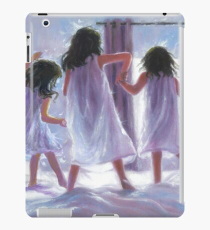 THREE SISTERS JUMPING ON THE BED iPad Case/Skin