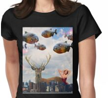 Oh Deer, It's Happening Again Womens Fitted T-Shirt