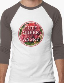 Cute, Queer and Angry Men's Baseball ¾ T-Shirt