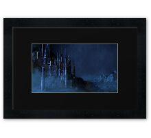 Sci Fi Castle in the Rain Framed Print