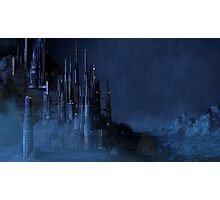 Sci Fi Castle in the Rain Photographic Print