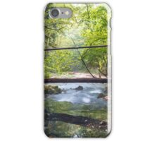 Wooden bridge over river iPhone Case/Skin