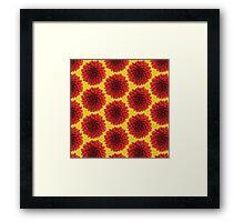 Beautiful yellow background Dahlia flower design Framed Print