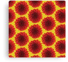 Beautiful yellow background Dahlia flower design Canvas Print