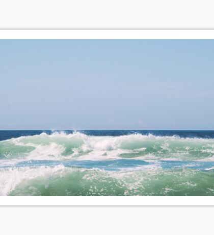 Seafoam Ocean Waves Crashing Sticker