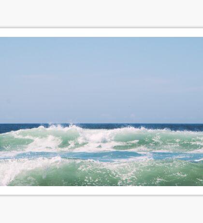 Seafoam Ocean Waves Crashing Sticker