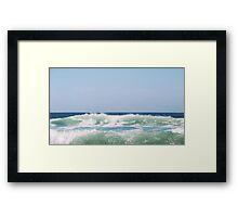 Seafoam Ocean Waves Crashing Framed Print