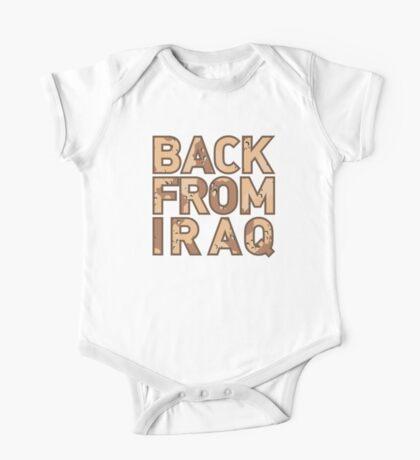 Back From Iraq - Iraq Vets One Piece - Short Sleeve