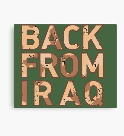 Back From Iraq - Iraq Vets Canvas Print