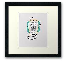 When I'm singing a song - Typography - Unisex T-Shirt Framed Print