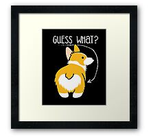 Puppy Guest What T-Shirt Framed Print