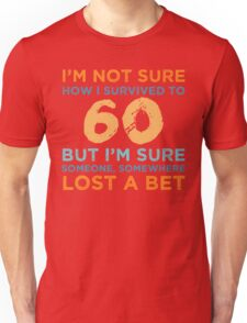 60th Birthday Survival Unisex T-Shirt