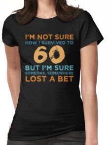 60th Birthday Survival Womens Fitted T-Shirt