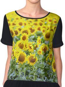 Sunflowers field Chiffon Top