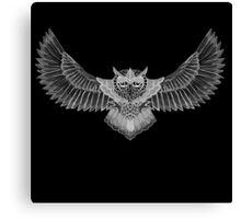Greyscale Owl  Canvas Print
