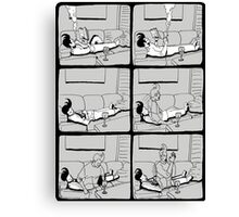 Astral Projection B&W Canvas Print