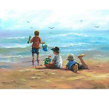 THREE LITTLE BEACH BOYS I Photographic Print