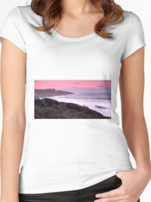 Maingon Bay at dusk Women's Fitted Scoop T-Shirt
