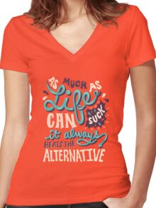 Paper Towns: It Beats The Alternative Women's Fitted V-Neck T-Shirt
