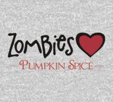 Zombies Love Pumpkin Spice One Piece - Long Sleeve
