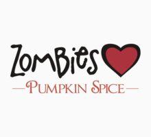 Zombies Love Pumpkin Spice Kids Tee