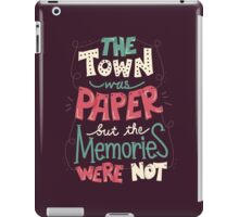 Paper Towns: Town and Memories iPad Case/Skin