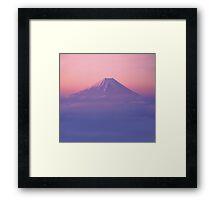 Mt Fuji Above the Clouds  Framed Print