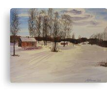 Snow In Solbrinken Canvas Print