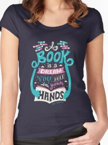 Book is a dream Women's Fitted Scoop T-Shirt