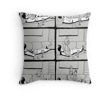 Astral Projection B&W Throw Pillow